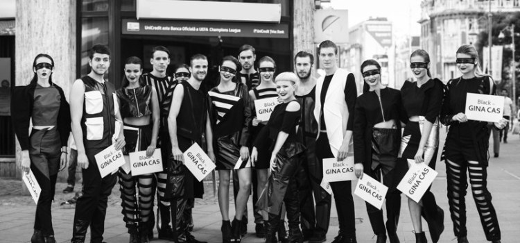 "Fashion flashmob: ""Black by Gina Cas"""