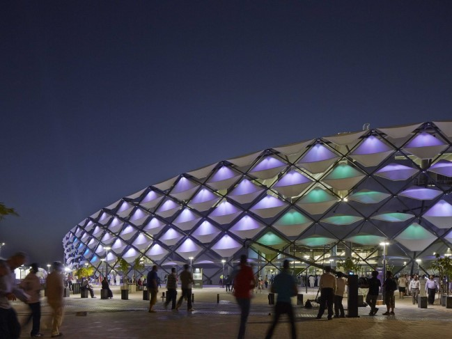 Hazza Bin Zayed Stadium by Pattern Design (Al Ain, United Arab Emirates)