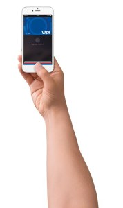 iPhone-hand-Visa-card