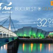 Blue Air zboara la Glasgow. Cat costa biletele?