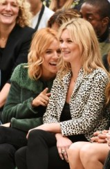 LONDON, ENGLAND - SEPTEMBER 21: Sienna Miller (L) and Kate Moss attend the Burberry Womenswear Spring/Summer 2016 show during London Fashion Week at Kensington Gardens on September 21, 2015 in London, England. (Photo by David M. Benett/Dave Benett/Getty Images for Burberry) *** Local Caption *** Sienna Miller;Kate Moss