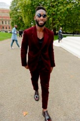 LONDON, ENGLAND - SEPTEMBER 21: Tinie Tempah arrives at Burberry Womenswear Spring/Summer 2016 show during London Fashion Week at Kensington Gardens on September 21, 2015 in London, England. (Photo by David M. Benett/Dave Benett/Getty Images for Burberry) *** Local Caption *** Tinie Tempah