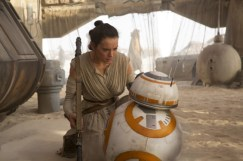 Star Wars: The Force Awakens L to R: Rey (Daisy Ridley) & BB-8 Ph: David James © 2015 Lucasfilm Ltd. & TM. All Right Reserved.