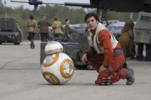 Star Wars: The Force Awakens L to R: BB-8 and Poe Dameron (Oscar Isaac) Ph: David James © 2015 Lucasfilm Ltd. & TM. All Right Reserved.