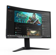 Y27g RE Curved Gaming Monitor (front-angled with wallpaper)