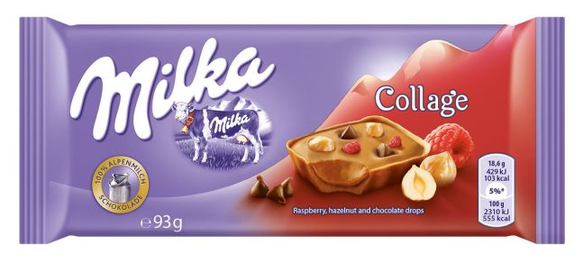 Milka collage Zmeura