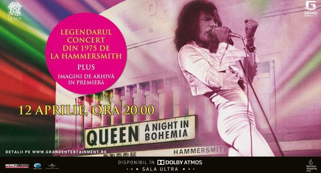 """Queen: A Night in Bohemia"",  în exclusivitate la Grand Cinema & More"