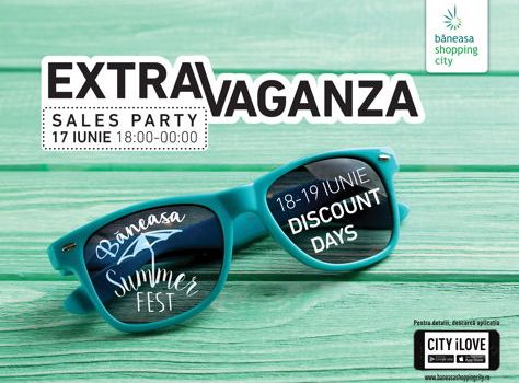 Shopping până la miezul nopții și reduceri exclusive la Extravaganza Sales Party