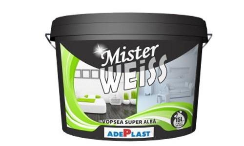 Mister Weiss, vopseaua super albă pentru toate buzunarele