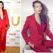 Fiica lui Demi Moore a purtat costumul roșu românesc STYLAND la Gold Meets Golden Gala din LA