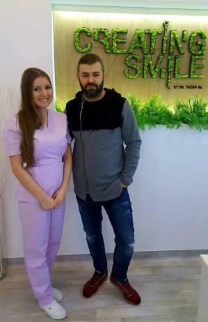 dentist creating smile