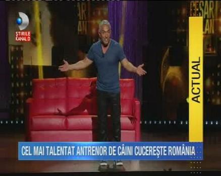"Cezar Millan, cel mai talentat psiholog si antrenor canin, vine astazi la ""Teo Show"""