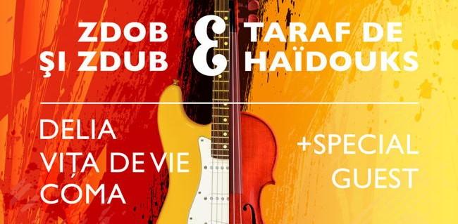 Delia, Vița de Vie, COMA, Zdob și Zdub, Taraf de Haidouks cântă la Blending Spirits Arena