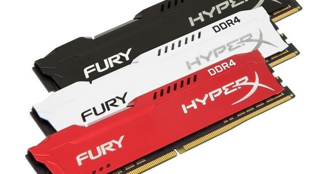 HyperX își extinde linia de memorii FURY DDR4