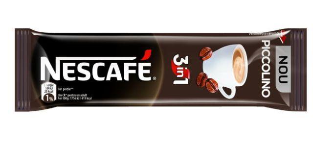 NESCAFÉ lansează3in1 PICCOLINO, prima cafea 3in1 scurtă