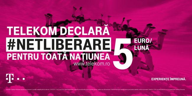 Telekom lansează campania #Netliberare: Internet și comunicare, la tarife începând cu 5 euro