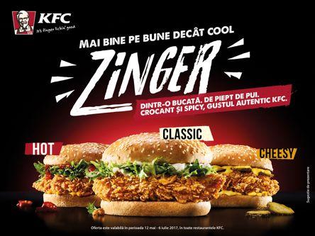 KFC relansează sandwichurile Zinger
