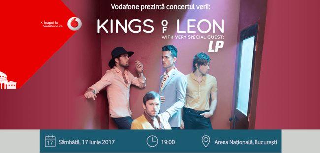 Vodafone oferă clienților bilete la preț redus și invitații cadou la Kings of Leon