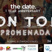 Party în aer liber pe rooftop-ul Promenada Mall
