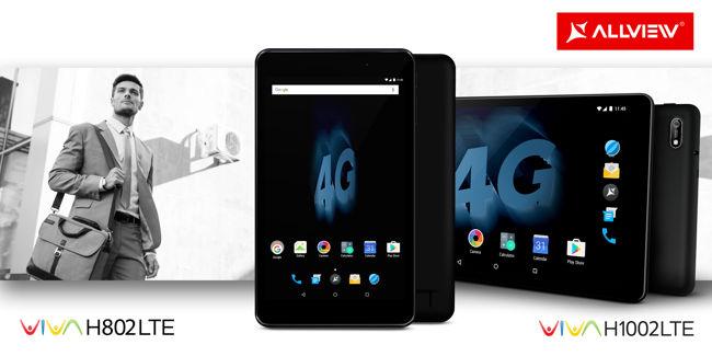 Allview, miza pe 2 noi tablete: Viva H1002 LTE și Viva H802 LTE