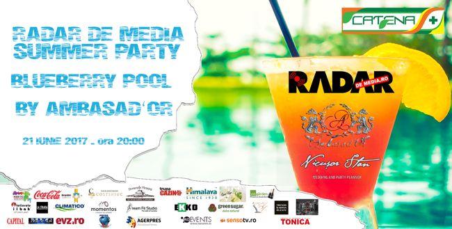 RADAR DE MEDIA Summer Party la BlueBerry Pool by Ambasad'Or
