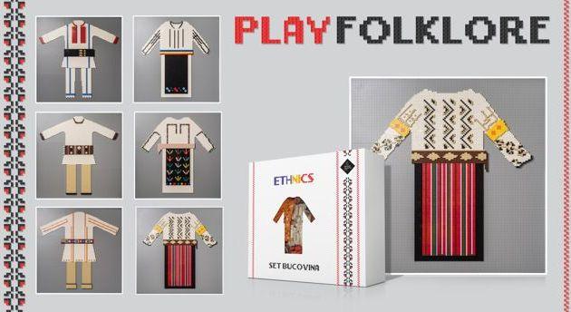 Folclorul românesc din nou la modă:costume populare din cărămizi LEGO