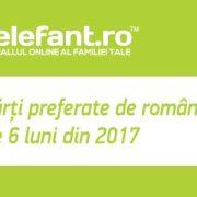 Top 10 cărți preferate de români în primele 6 luni