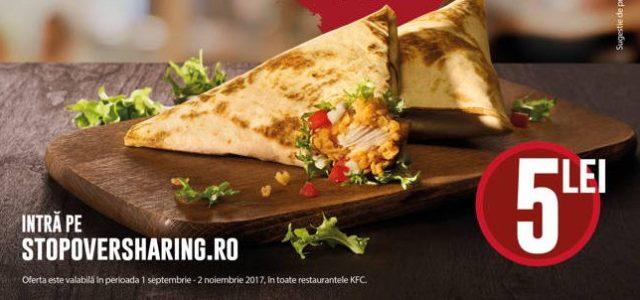 KFC aduce din nou wrapurile Duetos la prețul de 5 lei