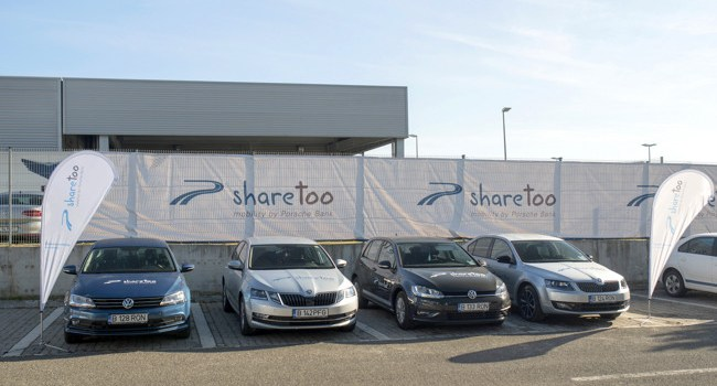 Car sharing: Porsche Finance Group lansează sharetoo în România