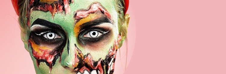 Cele mai în vogă look-uri de Halloween, completate cu lentile de contact cosmetice