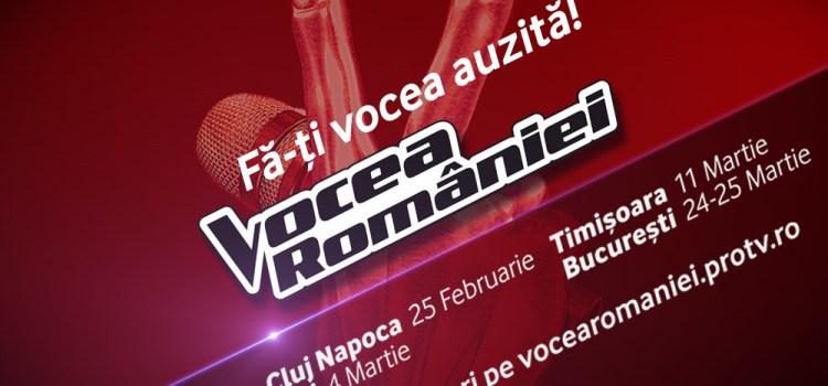 Încep preselecțiile pentru sezonul opt Vocea României!