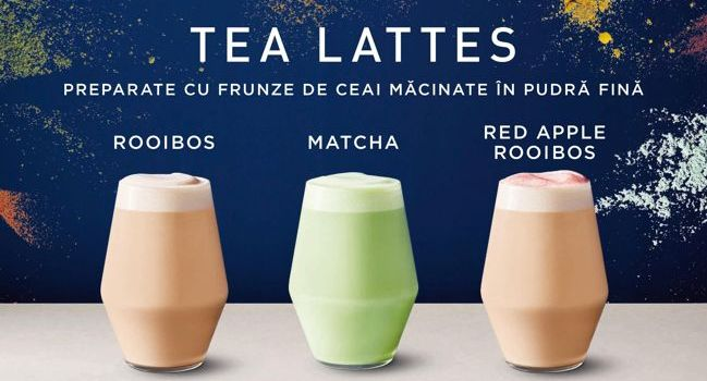 Starbucks lansează noile Teavana Tea Lattes