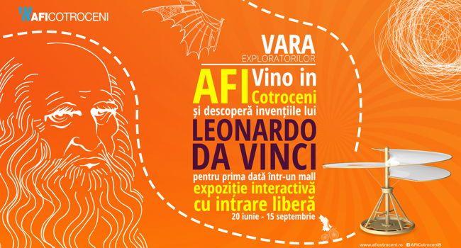 """AFI Cotroceni găzduieșteexpoziția """"Mașinăriile lui Leonardo da Vinci – Invențiile unui geniu al Renașterii"""""""