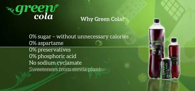 Green Cola, fără zahăr și îndulcitori artificiali!