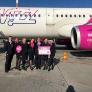 Rute noi de la Wizz Air: București spre Atena, Göteborg, Nisa și Kutaisi
