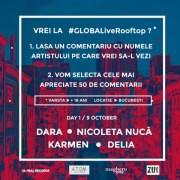 #GLOBALiveRooftop, trei zile de party cool alături de artiștii momentului