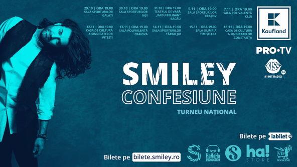 """Smiley, în primul turneu național, """"Confesiune""""!"""