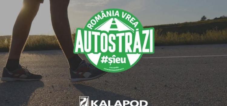 """Brandul de încălțăminte Kalapod se alătură manifestului """"Romania vrea autostrazi"""" și spune răspicat #sieu"""