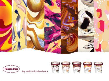 Häagen-Dazs își schimbă identitatea vizuală în colaborare cu artiști din toată lumea