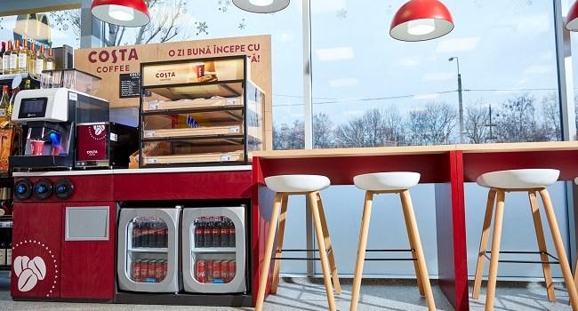 Coffee corners Costa Coffee în magazinele MyAuchan din Stațiile Petrom!
