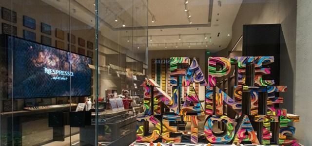 Manifestul de sustenabilitate al Nespresso ia forma unor instalații de artă amplasate în două magazine-concept