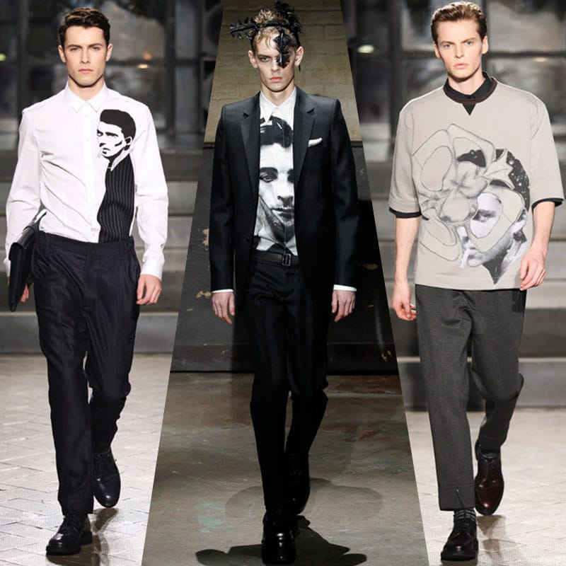 portrait face prints top trends 2014 menswear
