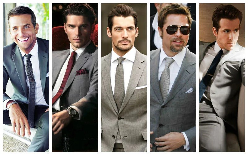 GREY SUIT WHITE SHIRT COMBO