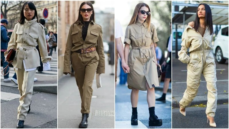 70s Safari and Military Outfits