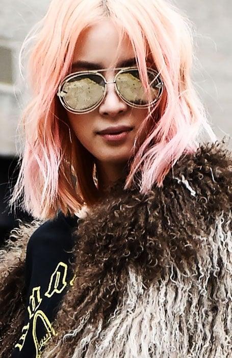 Pastel Rose Gold Hair Color