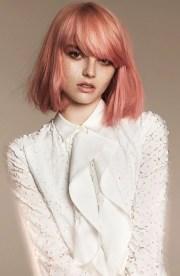 rose gold hair color idea
