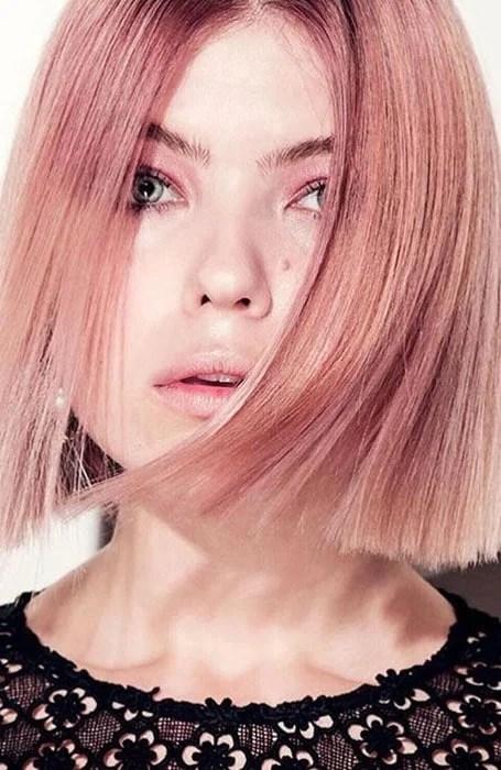 Straight Rose Gold Hair