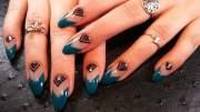 stunning almond shape nail design