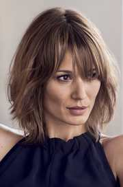 lob hairstyle with bangs - hairstyles