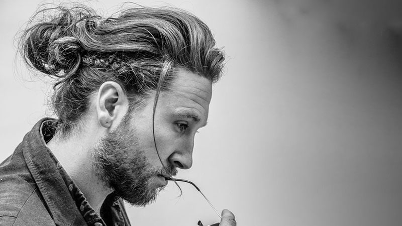 10 Masculine Man Bun Braid Hairstyles To Try The Trend